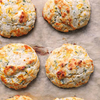 Sour Cream Cheddar and Chives Drop Biscuits.