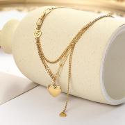 Korean Style Hot Selling Stainless Steel Women's Snake Bones Chain Pendant Simple Elegant Freshwater Special-Shaped Necklace Female Choker Direct Sales