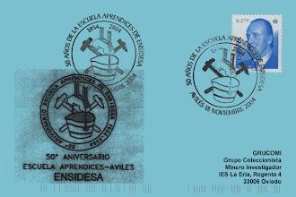 Photo: Matasellos del 50 aniversario de la Escuela de Aprendices de ENSIDESA en 2004