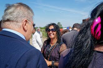 Photo: Sylvie Debart, secrétaire de l' ANGVC (Association Nationale des Gens du Voyage Citoyens)...