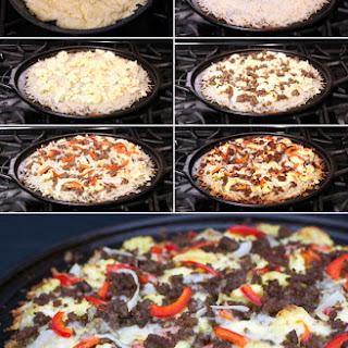 Hash Brown Breakfast Pizza.