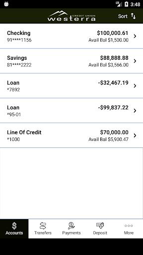 Android/PC/Windows 용 Westerra Credit Union Mobile 앱 (apk) 무료 다운로드 screenshot