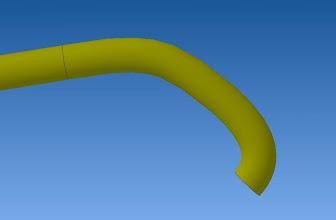 Photo: courber extrémité pour former une sorte de doigt crochu