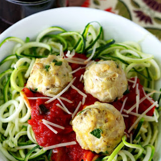 Skinny Zoodles and Meatballs.