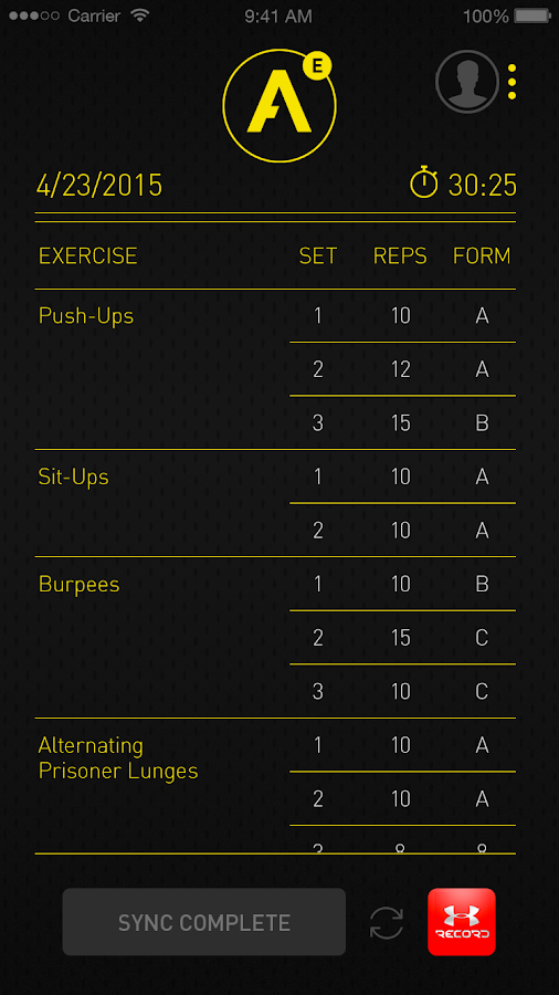 Atlas HIIT Workout Tracker- screenshot