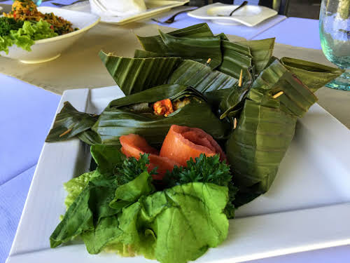 Indonesia. Bali Cooking Class. Tum Ikan Banana-Leaf Wrapped Spiced Steamed Fish.