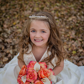 Be Still my Heart by Laura Gardner - Novices Only Portraits & People ( trouble, wedding, outdoors, fall, daughter, growing up to fast, mom's wedding dress, flowers )