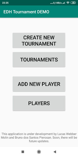 EDH Tournament DEMO screenshot 1