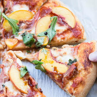 Peach and Proscuitto Pizza.