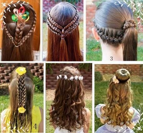 小さな女の子のヘアスタイルのチュートリアル