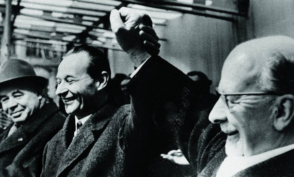 Перший секретар ЦК Компартії України Петро Шелест (крайній ліворуч), перший секретар Компартії Чехословаччини Александр Дубчек і перший секретар ЦК Соціалістичної єдиної партії Німеччини Вальтер Ульбріхт у Празі, 23 лютого 1968 року