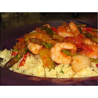 Chile Spiked Seafood Couscous