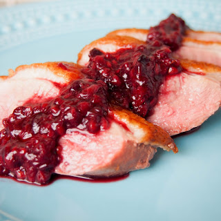 Duck Breast With Blackberry Sauce.