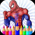Amazing Coloring Spider-man Avenger Hero