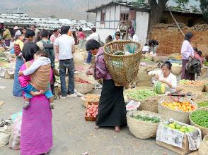 Photo: auf dem Markt in Wangdue