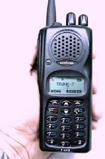 Police radio - náhled