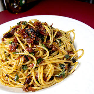 Spaghetti with Sun-dried Tomatoes.
