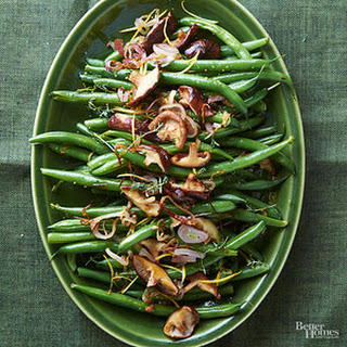Green Beans With Mushrooms And Almonds Recipes