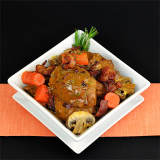 Coq Au Vin - Braised Chicken in Red Wine