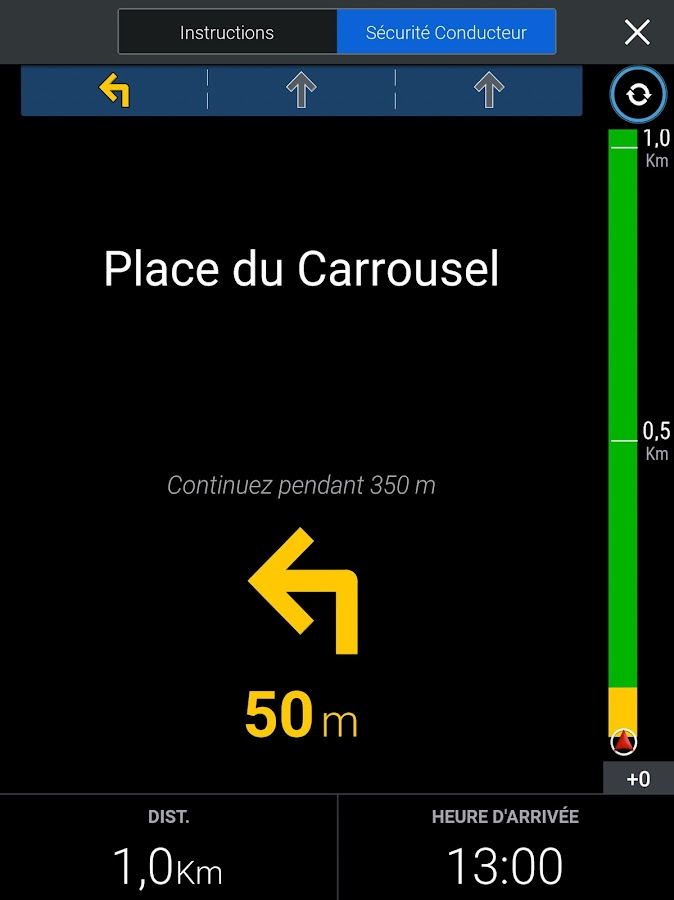 CoPilot Europe l'Ouest GPS – Capture d'écran