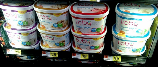 Photo: The cartons of TCBY frozen yogurt are some of the newer TCBY products at my Walmart. I was excited to see that there were a few different flavors including Cookies & Cream! Cookies & Cream is my husband's favorite flavor! He will choose it probably 9 times out of 10!
