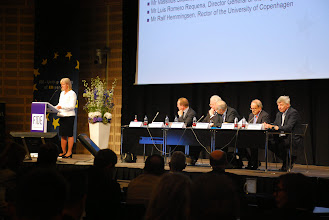 Photo: Opening Ceremony • Welcome by Ms Ulla Neergaard, Professor at the University of Copenhagen and President of FIDE • Address by Mr Martin Lidegaard, Minister for Foreign Affairs, Denmark • Keynote address by Mr Børge Dahl, President of the Supreme Court of Denmark (Højesteret) • Keynote address by Mr Vassilios Skouris, Professor and President of the Court of Justice of the European Union • Keynote address by Mr Luis Romero Requena, Director General of the Legal Service of the European Commission • Address by Mr Ralf Hemmingsen, Rector of the University of Copenhagen
