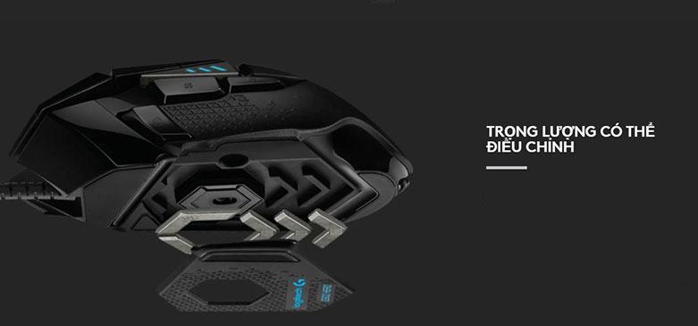 Chuột gaming Logitech G502 Hero K/DA | Trọng lượng có thể điều chỉnh