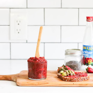 Strawberry Rose Chia Jam.