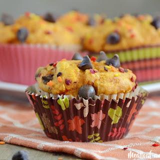 Easy Pumpkin Chocolate Chip Muffins.