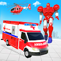 Ambulance Helicopter Car Transform Robot Game icon