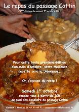 Photo: Samedi 1er Oct. 2011 - 29° édition du repas du passage Cottin