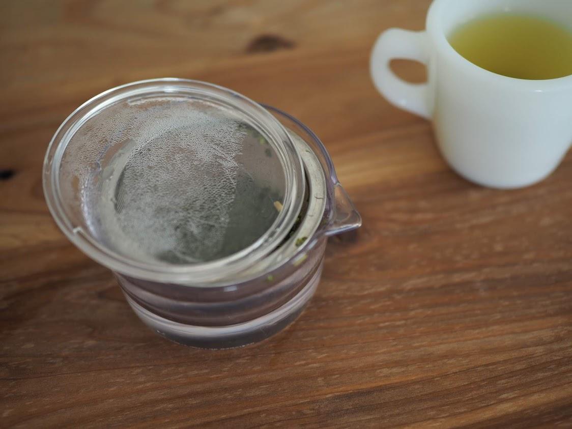 茶葉を冷ます