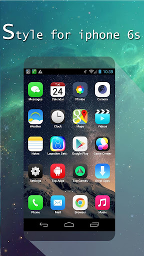 Launcher style iOS 8