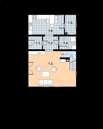 L-57 z bali - Rzut parteru