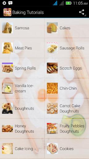 Baking Tutorials & Recipes screenshot