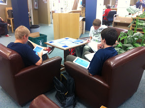 Photo: Researching in style: iPads and Comfy Chairs