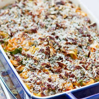 Baked Tortellini with Turkey, Butternut Squash & Chard.