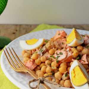 Salmon and Chickpea Stew