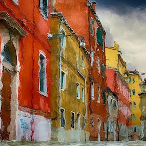 Venice Color by Dennis Granzow - Abstract Fine Art ( europe, venice, street scene, architecture, italy )