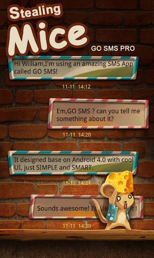 FREE-GO SMS STEALINGMICE THEME