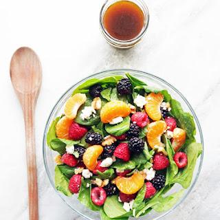 Berry Orange Spinach Salad with Citrus Balsamic Vinaigrette.