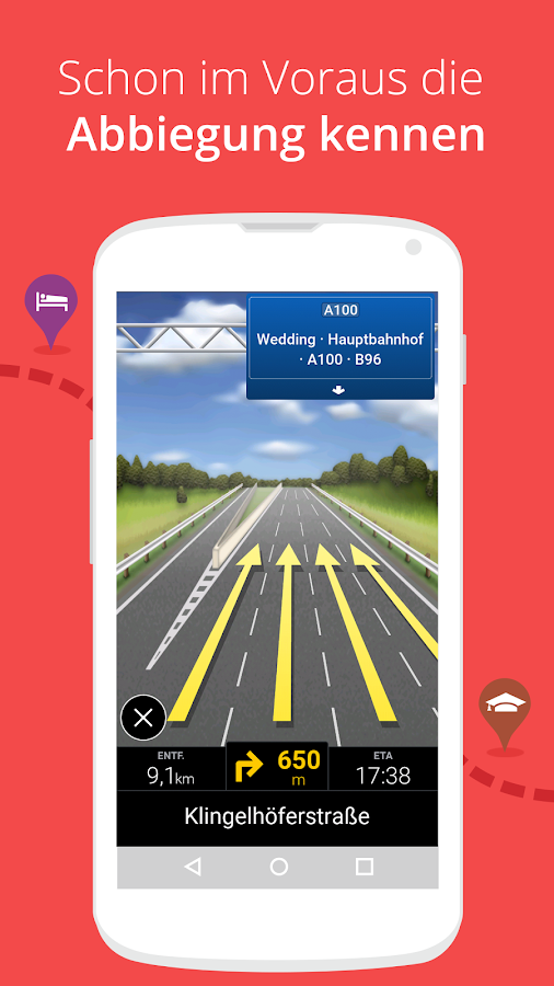 CoPilot Europa GPS Navigation – Screenshot