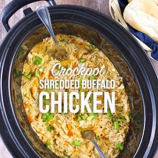 Crockpot Shredded Buffalo Chicken Recipe