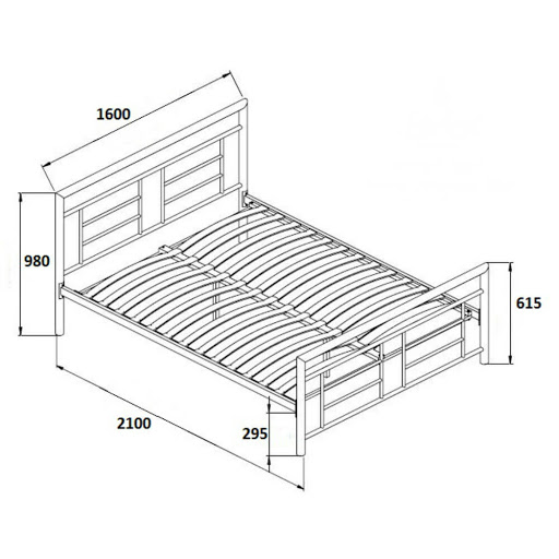 Birlea Montana Bed Frame Double