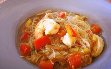 Singapore Curry Noodles With Shrimp Recipe