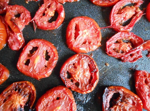 Slice tomatoes fairly thick.  You can roast these various ways, in a skillet,...