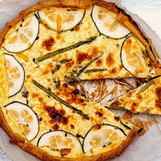 Asparagus and Zucchini Quiche