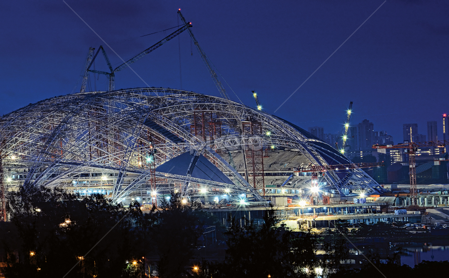 Singapore Sports Hub in the making... by William Cho - Buildings & Architecture Architectural Detail ( singapore sports hub, sports, national stadium, architecture, mega project )