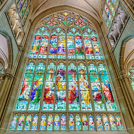 Stained Glass by Richard Michael Lingo - Artistic Objects Other Objects ( artistic objects, glass, window, cathedral, covington )