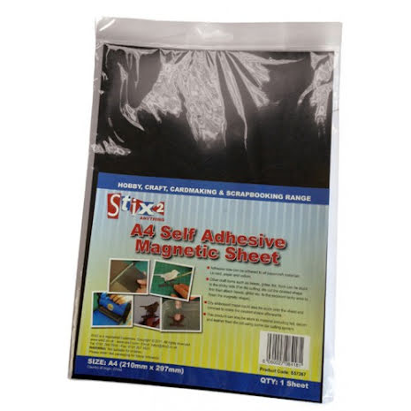 Stix2 A4 Self Adhesive Magnetic Sheet 1/Pkg